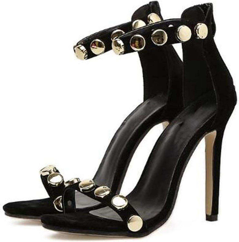 Super High Heels 11cm Metal Sequins Women's Sandals Heels Pumps,