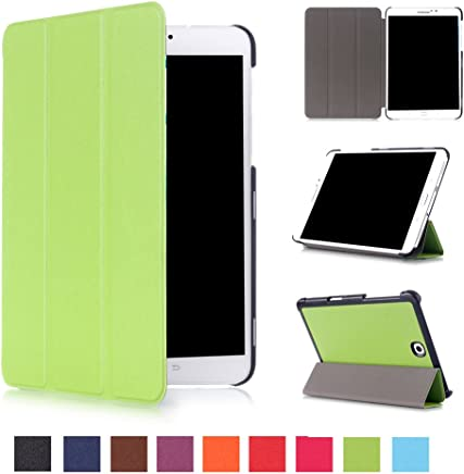Asng Samsung Galaxy Tab S2 8.0 Case - Slim Lightweight Smart-Shell Stand Cover Case with Auto Wake/Sleep for Samsung Galaxy Tab S2/S2 Nook 8.0 inch Tablet (SM-T710/T715/T713/T719) (Green)