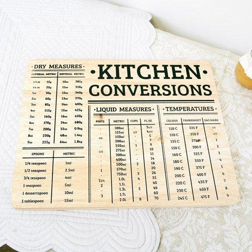 Dibor - French Style Accessories for the Home Cucina conversioni Tagliere con Misure metriche e imperiali