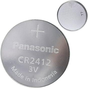 Panasonic CR2412 - Pila de botón (3 V, 100 mAh): Amazon.es: Electrónica