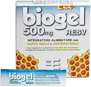 Biogel Resv 500 - Integratore Alimentare in bustine orosolubili a base di Pappa Reale e Resveratrolo – Per Adulti e Sportivi