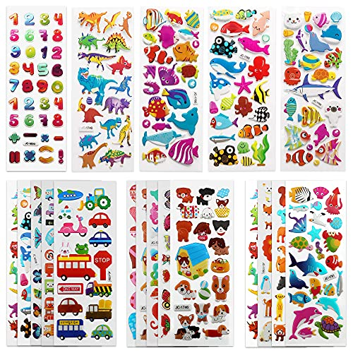 SAVITA 3D Stickers for Kids & Toddlers 500+ Puffy...