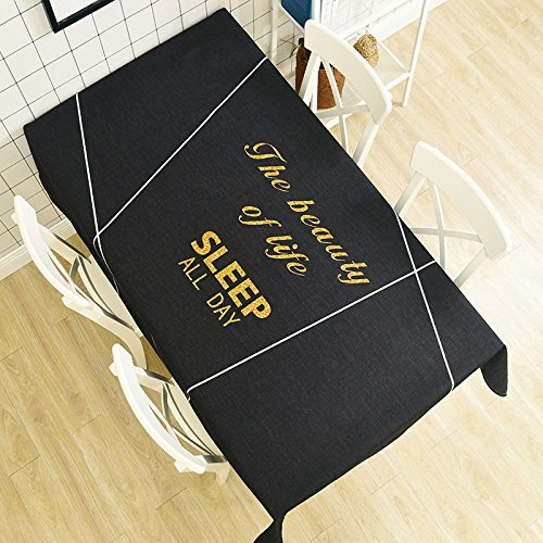 WEN-Nappes Nappe Antipoussière De Style Européen Nappe Multi-usages Tissu De Coton Famille Table À Manger Comptoir De Télévision Thé Couverture De Table Tissu