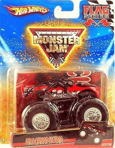 Hot Wheels 2010 Monster Jam Flag Series ARACHNAPHOBIA Monster Truck 27 75 by Hot Wheels
