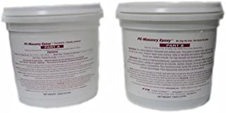 PC Products PC-Masonry Epoxy Adhesive Paste, Two-Part Repair, 128oz in Two Pails, Gray 71120