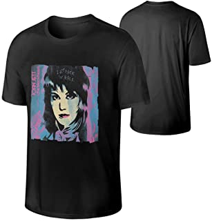DerekMAlldredge Man's Joan Jett & The Blackhearts Cotton Shirt Music Band T-Shirts Black