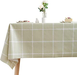 Chizoya Heavy Duty Vinyl Table Cloth for Rectangle Table Wipe Clean PVC Tablecloth for Kitchen Dining Table (54x54 inch, Lattice-3)