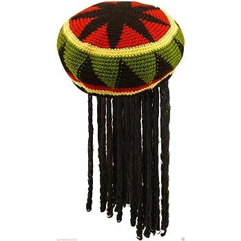 Unisex Ladies Mens Adult Jamaican Hat with Wig Dreadlocks Bob ...