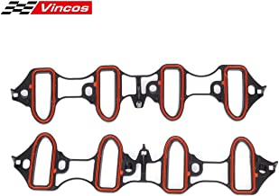 Vincos Intake Manifold Gasket Replacement For GMC Sierra Envoy Yukon Compatible with Chevy Silverado 1500 Tahoe 5.3L 6.0L V8 OHV VIN V T MS98016T MIS16340 89060413 MS92211 MS18007 MS4657 MS16340