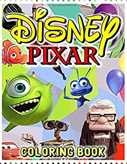 Disney Pixar Coloring Book: Adult Kids Books with Fun, Easy, Relaxing Coloring Pages