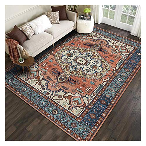 Rug for Entryway Indoor, Bedroom Runner Rug, Retro Living Room Coffee Table Sofa Carpet Floor Mat, Non-slip, Wear-resistant and Easy to Clean(Size:1.2×1.8m,Color:C)
