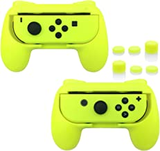 FastSnail Grips for Nintendo Switch Joy-Con, Wear-resistant Handle Kit for Switch Joy Cons Controller, 2 Pack(Yellow)