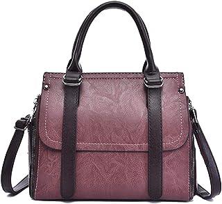 Trendy Lady Large-capacity Shoulder Bag Retro Handbag Wild Messenger Bag Zgywmz (Color : Purple, Size : 22 * 26 * 15cm)