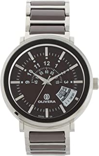Olivera Casual Watch Analog for Men, Stainless Steel, OG1365