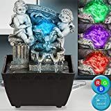 LED Tisch-Brunnen inkl. Pumpe Engel-DESIGN bronzefarbe RGB-Farbwechsler