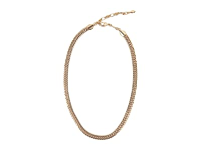 Rebecca Minkoff Braided Chain Necklace (Gold) Necklace
