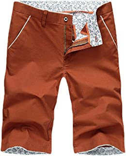 Mogogo Men's Middle Waist Slim Fit Summer Relaxed-Fit Short Baggy Pants