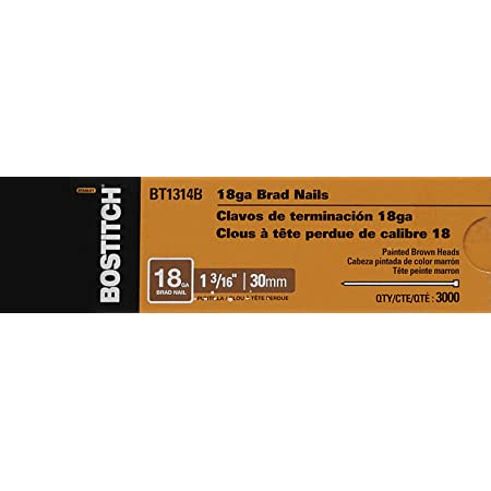 Bostitch BT1314B 1000pk 1-3//16 18-Gauge Brads