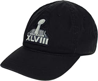 NFL Toddler's Super Bowl XLVIII Basic Slouch Adjustable Cap Seahawks VS. Broncos, Black One Size Toddler's (2-4)