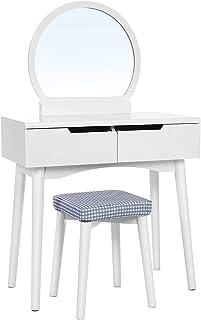 Lavable aparador aparador modernos taburetes manga minimalista y heces con el espejo 80 x 40 x 128 cmWhite