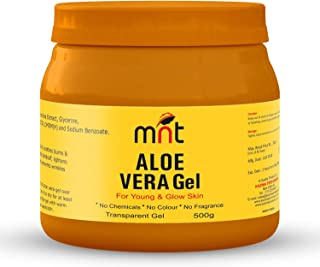 MNT Pure ALOE VERA Gel Transparent (500 Gram) For Hair, Skin, Body and Beard | Multipurpose Beauty Skin Gel For Young Face...