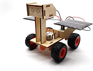 Wood Solar Car kit - DIY Assemble Toy Set Solar Powered Car Science Educational Project Toys Stem Toy for Boys Girls Kids Students 8 Years up