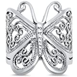 Oxford Diamond Co Filigree Butterfly .925 Sterling Silver Ring Size 8