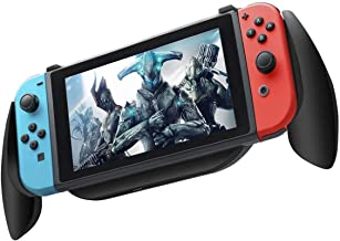 KINYEE Charging Grip for Nintendo Switch - Ultra Comfort Switch Hand Grips Case Compatible 5V 2A AC Adapter with Game Card Storage Box for Nintendo Switch Console & Joy-con Controllers (Black)