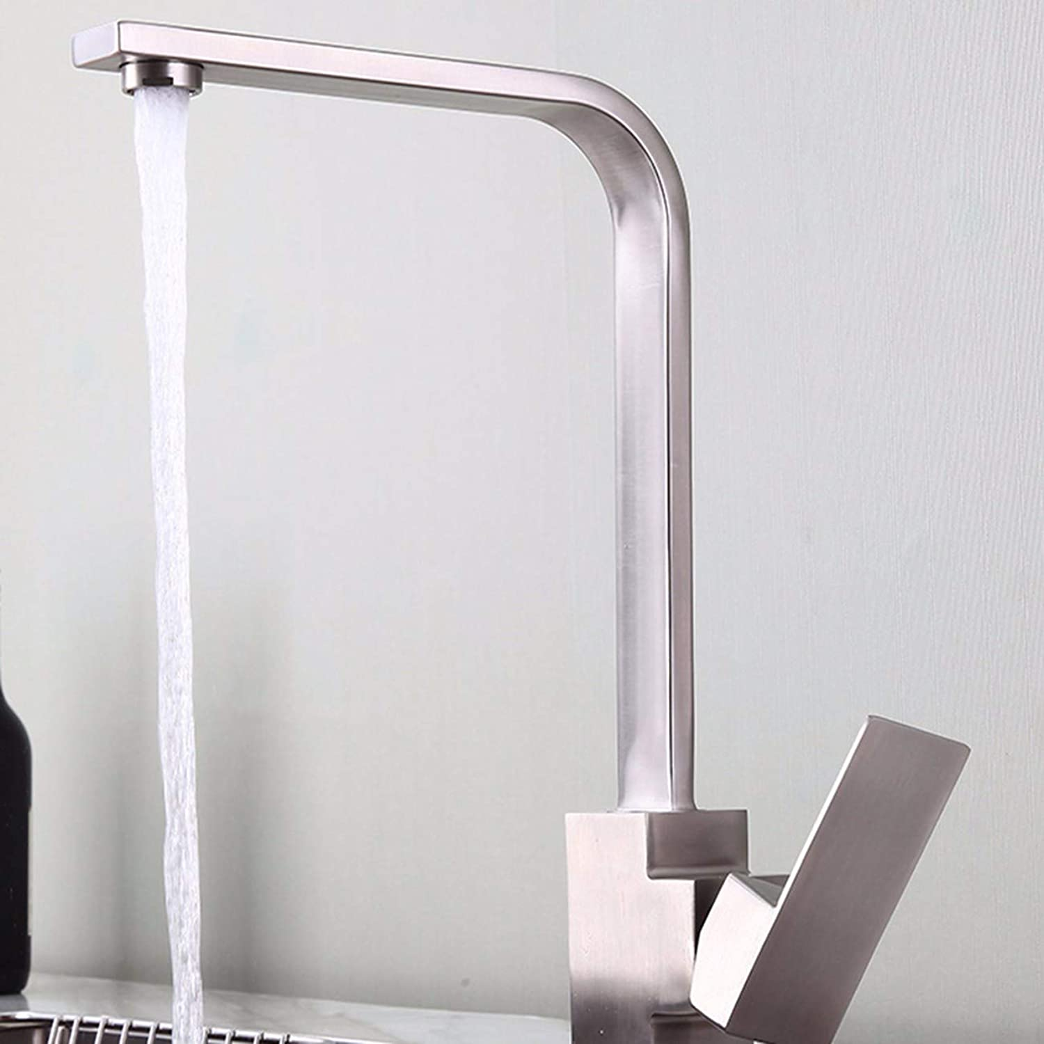 Kitchen tap Stainless Steel Kitchen Faucet, Hot And Cold Wash Basin, Sink, Sink Bowl, Tap Swivel,B