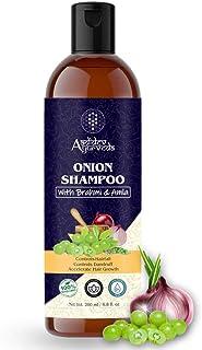 Aadidev Ayurveda Onion Shampoo for Hair Growth; Hair fall & Dandruff Control with Brahmi; Amla; Argan Oil; Vitamin E and 1...