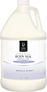 Bon Vital' Body Silk Finishing Product for Soft Skin, Anti-Aging Moisturizer with Jojoba & Sunflower Oil, Daily Body Lotion Hydrates, Softens & Nourishes Skin, Light Scented Lavender & Rosemary, 1 Gal