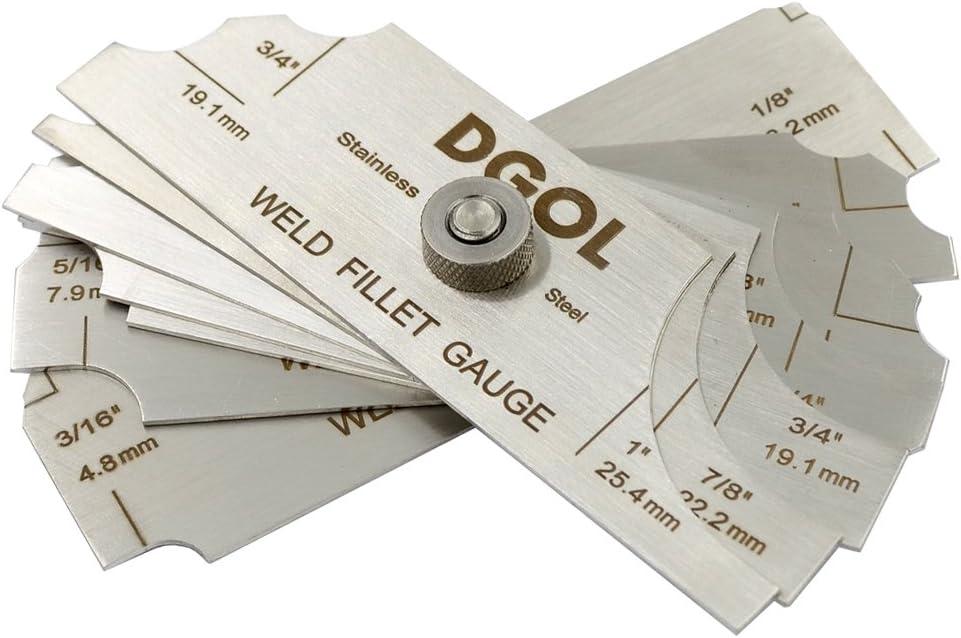 DGOL 7pcs Houston Mall Welding Fillet Gauge Measuring Inch mm 70% OFF Outlet Weld Inspecti
