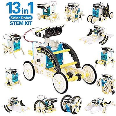 mengwoha STEM 13-in-1 Education Solar Robot kit Toys -DIY Building Science Experiment Toys for Kids Aged 8-12, STEM Learning Science Boys Toys for Birthday Gift