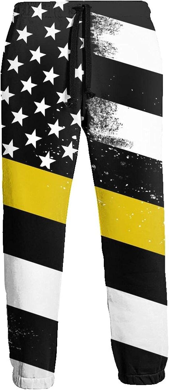 Active Sweats Jogger Pants Black American Flag Running Joggers Casual Sweatpants for Men Women