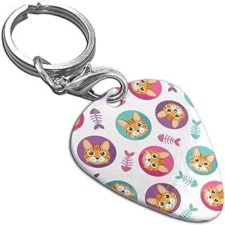 Cat Head Bone Pendant Necklace Guitar Pick Custom Keychain Pet Card