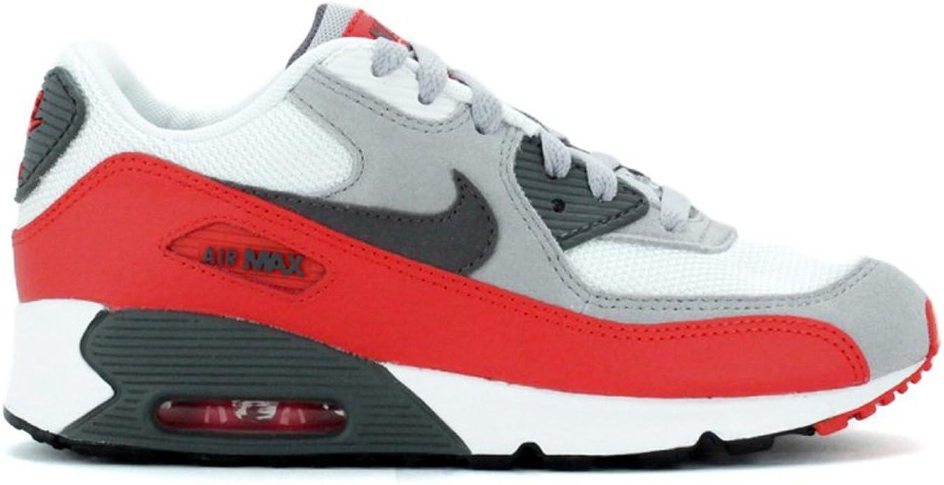 Nike Air Max 90 Enfant Grise Rouge Gris 35 : Amazon.fr: Chaussures ...