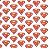 Cretonne Lizenzstoff Superman Logo | DC Comics – weiss