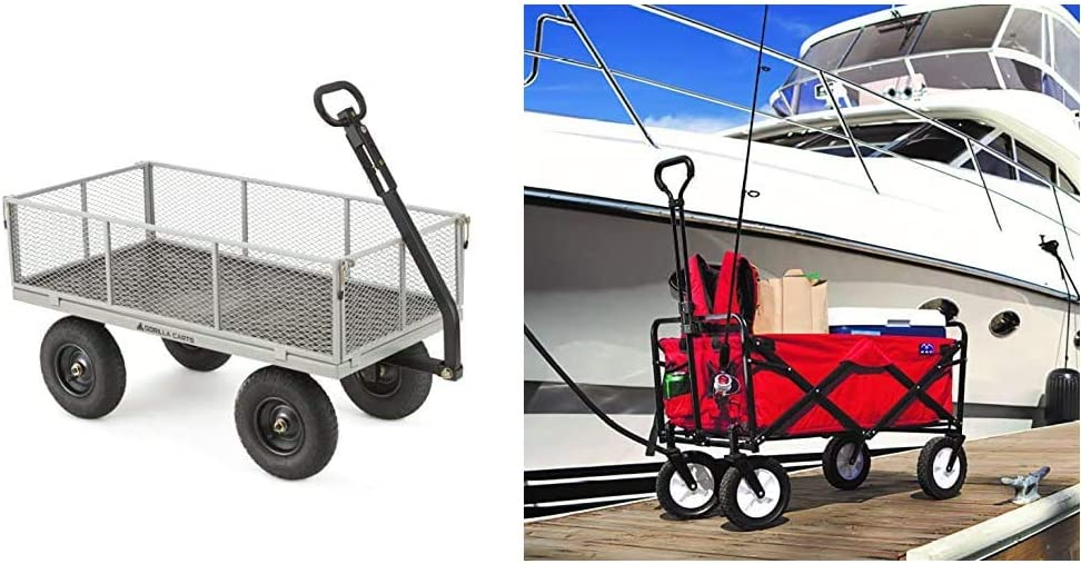 Gorilla Carts GOR1001-COM Heavy-Duty Steel Max 67% OFF OFFicial store Rem Utility Cart with