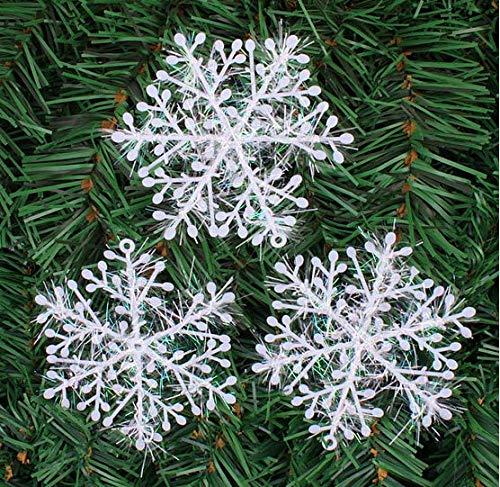 IGRMVIN 42 Stücke Weihnachten Schneeflocken Glitter Schneeflocken Deko Hängende Weihnachtsdeko Weiß Anhänger für Weihnachten Weihnachtsbaum Fenster weihnachtsschmuck Winterdeko 11/15/18/22/28cm