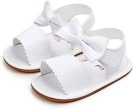 BBmoda Zapatos Bebe Niña Verano Primeros Pasos para Recién Nacido 0 3 6 9 12 18 Meses Sandalias de Suela Dura de Goma con Velcro