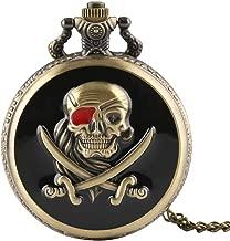 Klassieke Pocket Watch, Vintage Pirates Skull Desi...