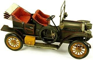 """Figura Decorativa de Metal """"Coche de Época Antiguo"""". Vehículos. Adornos y Esculturas. Coleccionismo. 33 x 14 x 18 cm."""