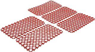 B Baosity 鳥用 足ネット おしっこおもちゃ コカトゥー オウム マット プラスチック 全3色 - 赤