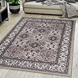 Carpeto Rugs Alfombra de salón Oriental Persa Pelo Corto Gris 200x300 cm Grande XL