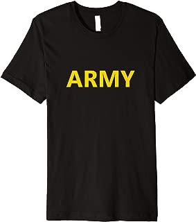 Army APFU APFT PT Uniform Gym Workout Physical Training Gear Premium T-Shirt