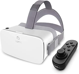 DESTEK V5 VR Headset, 110°FOV Anti-Blue Light Eye Protected HD Virtual Reality Headset w/Bluetooth Controller for iPhone 1...