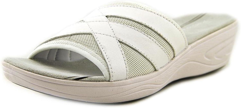 Easy Spirit Womens Mariner Leather Open Toe Casual Slide Sandals