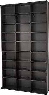 TecTake Estante de CD DVD Shelf archivado 1080 CDs DVDs (Negro   no. 401704)