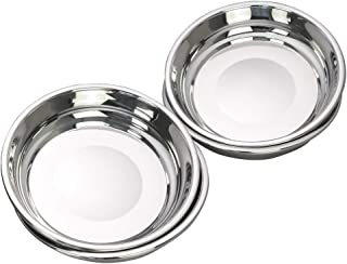 Sponsored Ad - Rinboat 8.66 Inch Stainless Steel Round Plate, Dinner Plate, 4 Packs