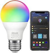Govee LED Gloeilamp Dimbaar, Muziek Sync RGB Kleur Veranderende Gloeilampen E27 7W 60W Equivalent, Multicolor Decoratieve ...